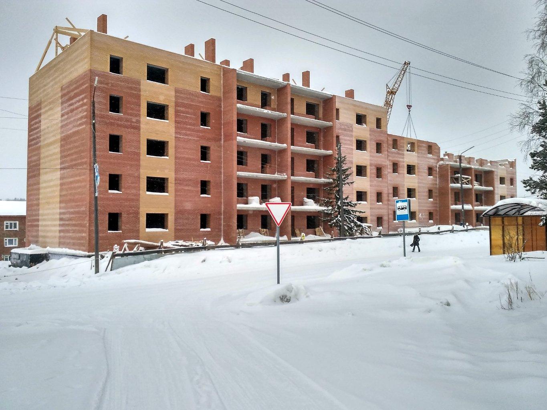 Новый строящийся дом